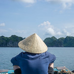 Ha Long Bay Limestone Scenery from a Local Boat thumbnail
