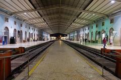 La gare Santa Apollonia (hans pohl) Tags: portugal lisbonne gares trainstations bâtiments buildings architecture