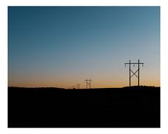 saint-liboire (Mériol Lehmann) Tags: horizon fields dusk rural landscape poles field