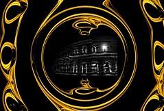 Le trophée d'Or - Golden Trophée (Emmanuelle Baudry - Em'Art) Tags: arènesdenîmes gard occitanie or gold nuit night nikon nîmes lumière light languedocroussillon art artwork abstract artnumérique abstrait artsurreal artdigital digitalart dark emmanuellebaudry emart