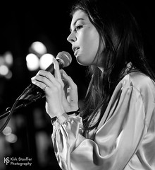 Elise Trouw @ Upstream 2018 (Kirk Stauffer) Tags: kirk stauffer photographer nikon d5 adorable amazing attractive awesome beautiful beauty charming cute darling fabulous feminine glamour glamorous goddess gorgeous lovable lovely perfect petite precious pretty siren stunning sweet wonderful young female girl lady woman women live music tour concert show gig song singer vocals performer musician band lights indie long brown hair brunette teen teenage red lips eyes white teeth model tall fashion style portrait photo smile smiling playing electric guitar bass piano black