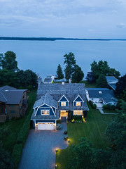 1005 Little Cedar 29 (Michael Muraz Photography) Tags: 2018 barrie canada innisfil lakesimcoe lornerose lornerosearchitect northamerica on ontario world aerial aerialphotography architecture bluehour commercial cottage drone dronephotography dusk exterior house residential twilight