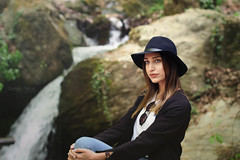 Anastasia (Geo.M) Tags: fashion photography canon nature golden hair young model casual style hat waterfall daylight pelion volos thessaly george miliokas photoshoot