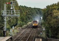 Take the high road (Blaydon52C) Tags: 6s45 gbrf railfreight railway rail railways trains train transport prudhoe semaphore semaphores signals newcastleandcarlislerailway locomotive locomotives