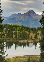 Moods of Lake Molas (TWK2011) Tags: molas lake landscape mountain clouds sky water pond trees green blue evergreen engineer wood tree mountainside serene forest outside nature cloudy overcast rain moody