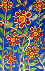 Watercolor Painting (Imara U.) Tags: colorful colors colorido cor aquarela work art arte artista artist flowers flores nature natureza pintura beautiful inspirations finearts contemporary watercolor watercolors contemporaryart