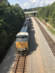 Coal on the move (Just Back) Tags: heavy mass coal loud motion physica weight transport columbia sc train tren zug physics metal iron glass steel wheels calculus csx industry