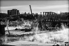 Construction on the Traffic Bridge (Dave (www.thePhotonWhisperer.com)) Tags: 26bridges 26bridgesproject trafficbridge saskatchewan saskatoon construction