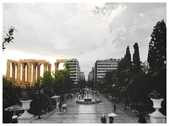 (Noia) Tags: noia white black color square architecture wow panorama view look urban street ancient new old greece athens travel photography doubleexposure