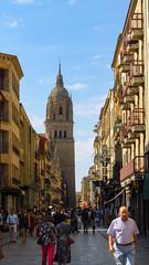 Salamanca Street (Greenstone Girl) Tags: salamanca spain streetscape buildings medievaluniversitytown