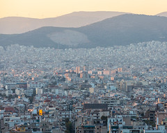 Last Light (JoshyWindsor) Tags: sprawl athens canonef70300mmf456l urban canoneos5dmarkiii travel greekislands buildings greece sunset europe holiday cityscape