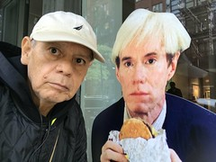 andy & branko, hanging out in soho (branko_) Tags: andy warhol branko soho junk food