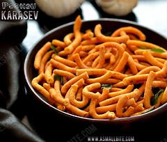 Garlic Khara Sev Recipe (ASmallBite) Tags: karasev poondukarasev garlickarasev kharasev snack snacks diwalisnacks diwali diwalirecipes eveningsnacks food eeeeats eatfamous foodlover asmallbite