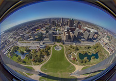 Fish in the Arch (Notkalvin) Tags: fish fisheye stlouis missouri wide city arch saarinen lookingdown viewfromabove tall high superwide topofthearch