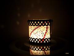 TIME FOR WINDLIGHT (Fimeli) Tags: windlicht polyclay polymerclay glasbearbeitung glass tealight licht light