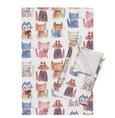 ARISTO CATS (MimiPintoArt) Tags: cats illustration animals cute nursery baby homedecor fabric soft furnishing pillow blanket swaddle cloth
