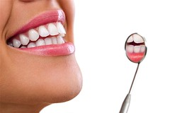 Healthy woman teeth (Stomatologia Mogilno) Tags: smile dental tooth dentist care teeth mirror patient white woman healthy clinic hygiene mouth fresh whitening health equipment inspection reflection medical dentistry orthodontia toothache girl lips orthodontic open whiten oral orthodontist macro young lady person face background isolated human female horizontal serbia