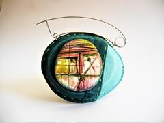 Matelot - brooch by Sonya Girodon (Sonya Girodon's Creations) Tags: leatherandpolymerclay leather polymerclay sonyagirodon