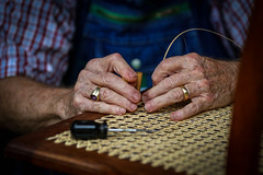 Hands at work - Hagood Mill, Pickens, S.C. (DT's Photo Site - Anderson S.C.) Tags: canon 6d 135mmf2l lens upstate southcarolina pickenssc hagood mill craftsman hands work chair caning rural country crafts southern america usa summer august