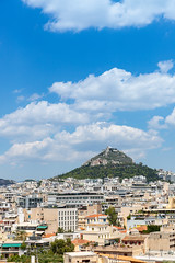View of Lycabettus Hill in Athens, Greece