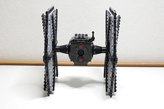 First Order TIE Fighter: Back View (Evrant) Tags: lego star wars tie fighter starfighter custom moc spaceship ship first order evrant