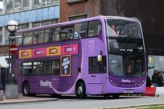 SN61 BCV, Station Road, Reading, March 19th 2017 (Southsea_Matt) Tags: sn61bcv 225 route17 alexanderdennis enviro400 e400 stationroad reading berkshire england unitedkingdom march 2017 spring bus omnibus publictransport passengertravel vehicle purple