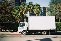 rb design (jayplorin) Tags: san jose california canon ae1 film city urban buildings white truck vehicle kodak gold 200 35mm