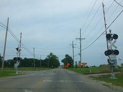 Railroad crossing, W 8 Mile Rd, Whitmore Lake, MI (5) (Ryan busman_49) Tags: michigan mi whitmorelake railroadcrossing gradecrossing