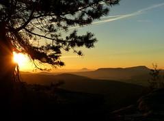 Morgentlicher Blick vom Pfaffenstein (isajachevalier) Tags: sonnenaufgang morgen landschaft licht elbsandsteingebirge sächsischeschweiz pfaffenstein sachsen panasonicdmcfz150