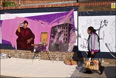 Work in progress - DSCF7108a (normko) Tags: london west portobello road street market artist art painting anastasia russa wall project grenfell tower