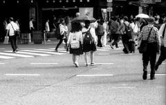 放出点 (an emission point) (Dinasty_Oomae) Tags: leicaiiia leica ライカiiia ライカ 白黒写真 白黒 monochrome blackandwhite blackwhite bw outdoor 東京都 東京 tokyo 台東区 上野 taitoku ueno 歩行者 pedestrian 傘 umbrella
