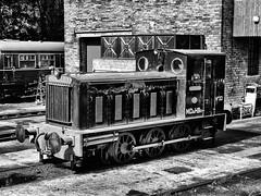 Haworth Staition 2018 September (mtwhitelock) Tags: huskisson keighleyandworthvalleyrailway black merseydocks diesel mechanical 060 haworth kwvr mono