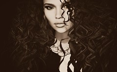 Illum (Ember Adored) Tags: {letituier} thechapterfour insomniaangel 7deadlys{k}ins genusproject yasum bliensenmaitai secondlifeevents secondlifeblog secondlifefashion portrait selfie secondlife sl secondlifecurlyhair sepia shades closeup headshot