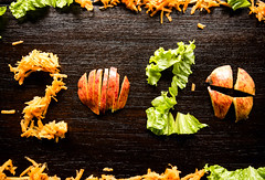 2020 formed with shredded carrot, lettuce, and apple slices (wuestenigel) Tags: wood shredded lettuce carrot unique year 2020 apple future healthy slices fall fallen holz noperson keineperson leaf blatt food lebensmittel wooden hölzern nature natur desktop rustic rustikal closeup nahansicht gesund flora maple ahorn cooking kochen season jahreszeit vegetable gemüse thanksgiving daserntedankfest table tabelle color farbe stilllife stillleben