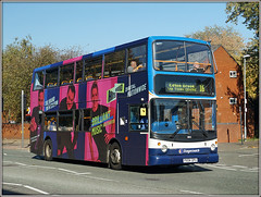 18155, Kingsthorpe Road (Jason 87030) Tags: alx400 dennis trident pink purple hits radio great music kingsthorperoad northampton october 2018 northants northamptonshire 18155 7 grangepark pxo4dpu sony ilce alpha a6000 nex lens tag vehicle bus sunny weather advert vinyl route service 16 sixteen