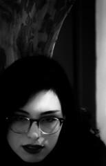 girl and tree (sgilpat1) Tags: blackandwhite monochrome columbusga ga columbus tree girl face