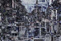 druk (roberke) Tags: photomontage photoshop layers lagen textures textuur creation creative creatief surreal fantasy mensen people gebouwen abstract