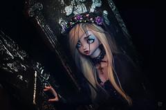 Dolltober Day 22 : Graveyard. (Chantepierre) Tags: bjd balljointeddoll balljointed doll peakswoods peakswood dotty muse vampire goth gothic fc fullcusto full custom custo chantepierre ladicius legit legitdoll purple violet skin dolltober2018 dolltober 2018
