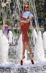 I Love Getting Soaked in Fountains (SoakinJo) Tags: wetlook wetclothes wetdress fountain wetclothing tashkent highheels stilettos