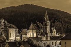 Parish Church of St. Oswald (a7m2) Tags: austria styria eisenerz erzberg oswaldikirche stoswald leoben church wehrkirche catholicparish religion layertower landmark culture history travel tourismus building