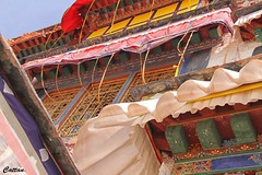 Colourful windows - Drepung Monastery, 哲蚌寺, Tibet, China