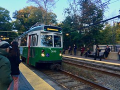 Green Line at Longwood (flannrail) Tags: boston massachussetts train trolley transit greenline longwood