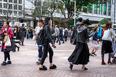 Darkishness (burnt dirt) Tags: asian japan tokyo shibuya station streetphotography documentary candid portrait fujifilm xt1 bw blackandwhite laugh smile cute sexy latina young girl woman japanese korean thai dress skirt shorts jeans jacket leather pants boots heels stilettos bra stockings tights yogapants leggings couple lovers friends longhair shorthair ponytail cellphone glasses sunglasses blonde brunette redhead tattoo model train bus busstation metro city town downtown sidewalk pretty beautiful selfie fashion pregnant sweater people person costume cosplay boobs