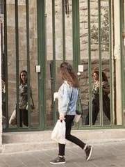 !7 Jaffa Street - Mirror Door-2 (zeevveez) Tags: זאבברקן zeevveez zeevbarkan canon mirrorphotography mirror door jaffastreet