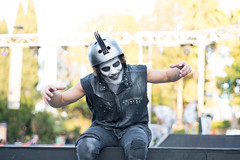Ghost Biker (tourtrophy) Tags: halloween greatamerica californiasgreatamerica santaclara biker sonya7rii carlzeissplanar50mmf14zs