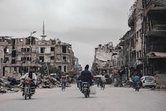 Transportation in Duma (Hasan Blal) Tags: syria damascus ghota eastghouta duma crisis war photography isis street center sky bike road