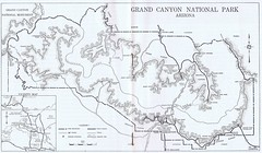 Grand Canyon National Park 1952 (Runabout63) Tags: grand canyon national park map