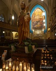 Saint Joseph in Church of the Holy Innocents (qsus) Tags: saintjoseph churchoftheholyinnocents catholicchurch church christianity statue saint