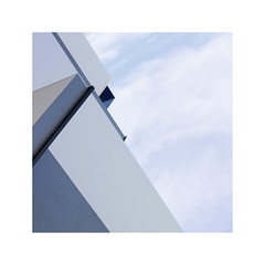 architecture in blue (claredlgm1) Tags: diagonal blue minimal abstract detail outdoor roof