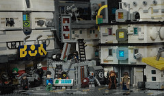 Nexus 6 replicants into lower level slums (Faber Mandragore) Tags: lego moc cyberpunk nexus6 replicants blade runner faber mandragore fabermandragore cybercity